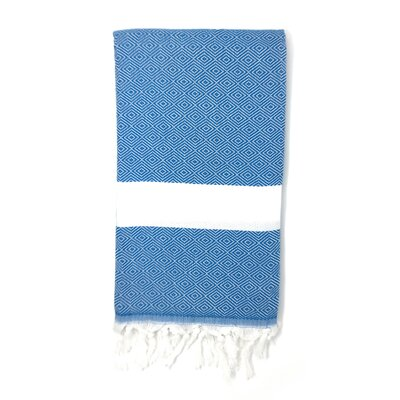 Pestemal Turkish 100% Cotton Beach Towel Color: Ocean Blue
