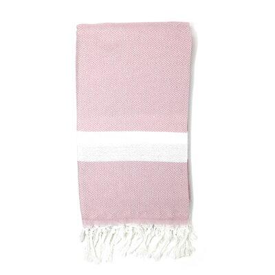 Pestemal Turkish 100% Cotton Beach Towel Color: Baby Pink