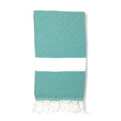 Pestemal Turkish 100% Cotton Beach Towel Color: Light Green