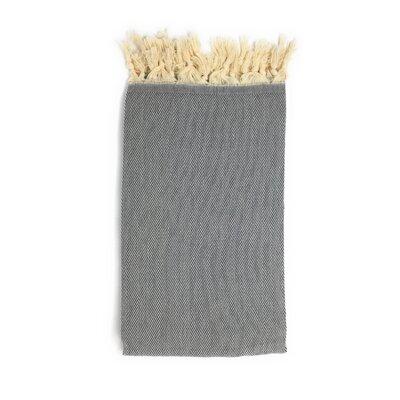 Pestemal Turkish 100% Cotton Beach Towel Color: Charcoal