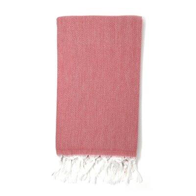 Pestemal Turkish 100% Cotton Beach Towel Color: Burgundy