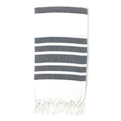 Luxury Pestemal Fouta 100% Cotton Beach Towel Color: Gray
