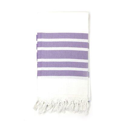 Luxury Pestemal Fouta 100% Cotton Beach Towel Color: Lilac