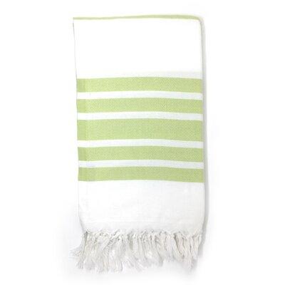 Luxury Pestemal Fouta 100% Cotton Beach Towel Color: Light Green
