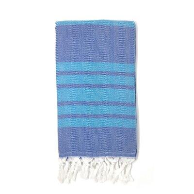 Luxury Pestemal Fouta 100% Cotton Beach Towel Color: Navy Blue