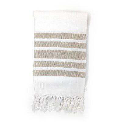 Luxury Pestemal Fouta 100% Cotton Beach Towel Color: Beige