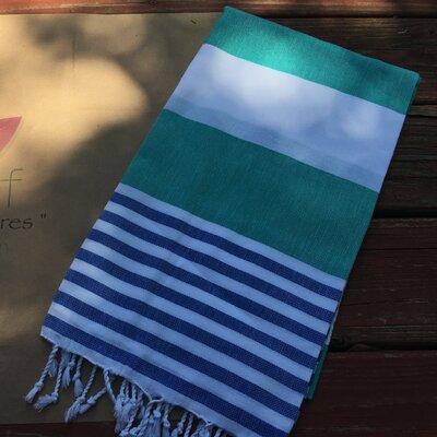 Pestemal Turkish 100% Cotton Beach Towel Color: Green