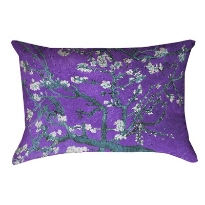 Lei Almond Blossom Lumbar Pillow Color: Purple/Blue