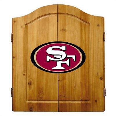 NFL Team Logo Complete Dart Cabinet Set NFL Team: San Francisco 49ers