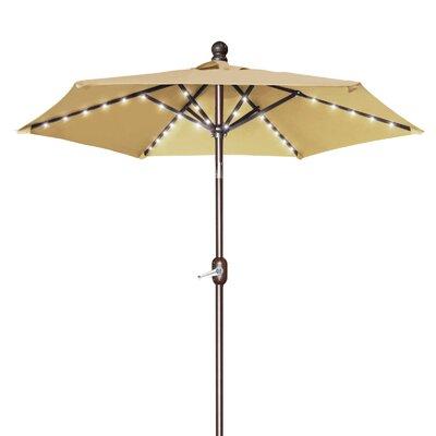 Hardman 6.5' Lighted Umbrella Fabric: Beige