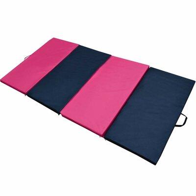 Folding Panel Gymnastics Exercise Yaga Floor Mat Color: Pink
