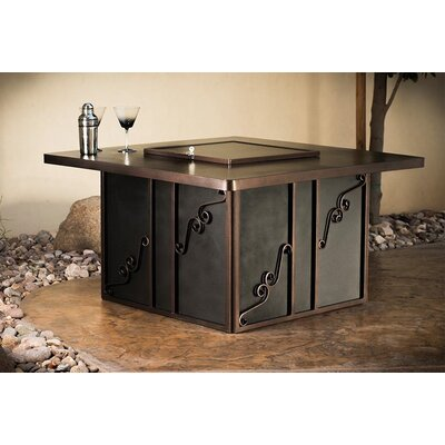 Regale Night Steel Propane Fire Pit Table