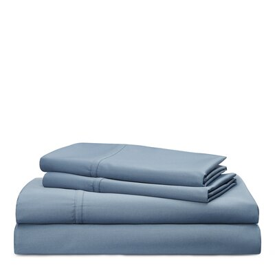 Spencer Solid 475 Thread Count 100% Cotton Sheet Set Color: King Fisher Blue, Size: King