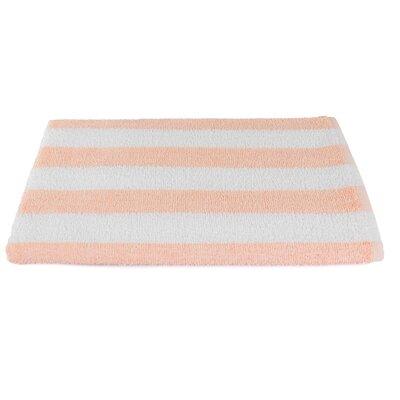 Rectangle Stripe Beach Towel Color: Peach