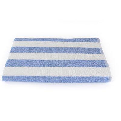 Rectangle Stripe Beach Towel Color: Porcelain Blue