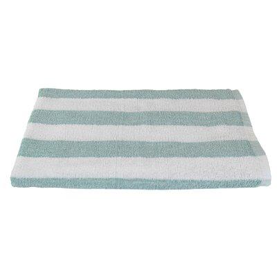 Rectangle Stripe Beach Towel Color: Seafoam
