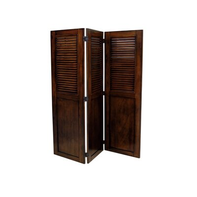 Jamarais 3 Panel Room Divider Color: All Spice