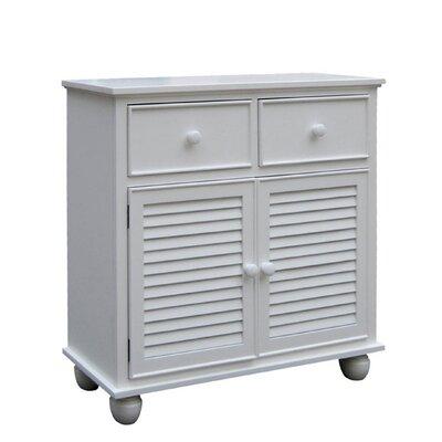 Jamarais 2 Door Accent Cabinet Color: White