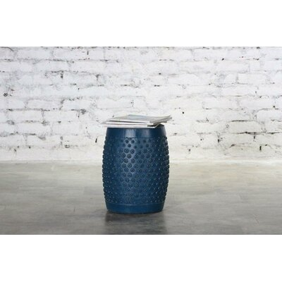 Estancia Wooden Palka Dots Accent Stool