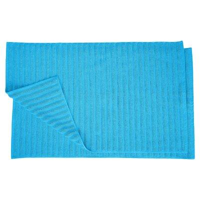 Charo Lined Bath Rug Set Color: Aster Blue