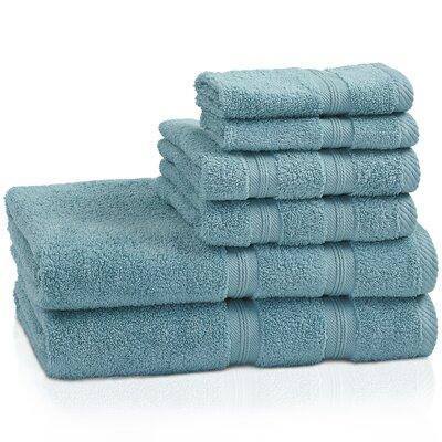 Smart 6 Piece 100% Cotton Towel Set Color: Turquoise