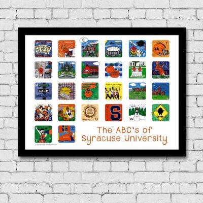 Mai The ABC's of Syracuse University Framed Paper Print Frame Color: Black