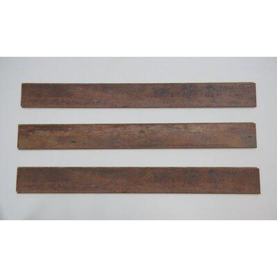 "Naples 4"" x 48"" x 12mm Oak Laminate Flooring in Dark Brown"