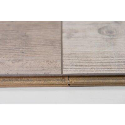 "Naples 4"" x 48"" x 12mm Oak Laminate Flooring in Powder"