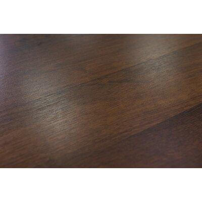 "Palermo 7.5"" x 47.25"" x 8mm Oak Laminate Flooring in Chocolate"