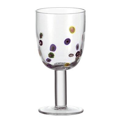 Leonardo Rotweinglas Millefiori