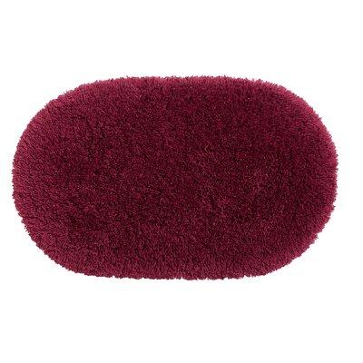 Ultimate Shag Bath Rug Color: Cherry