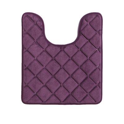 Diamonds Bath Rug Color: Purple