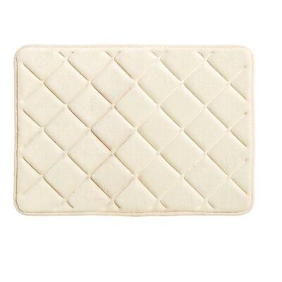 """Diamonds Bath Rug Size: 0.5"""" H x 17"""" W x 24"""" L, Color: Vanilla"""