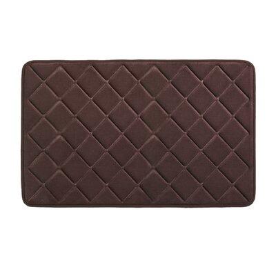 "Diamonds Bath Rug Size: 0.5"" H x 21"" W x 34"" L, Color: Chocolate"