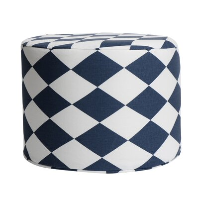 Rhombus Accent Stool Color: Navy
