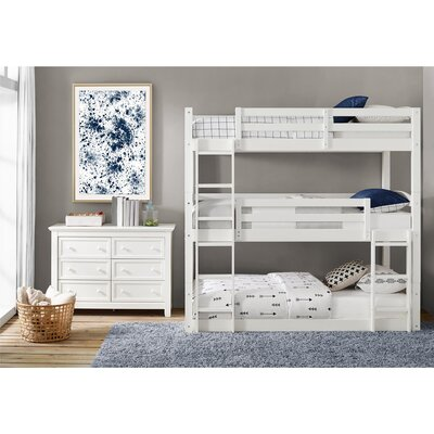 Narooma Twin over Twin Triple Bed Bed Frame Color: White
