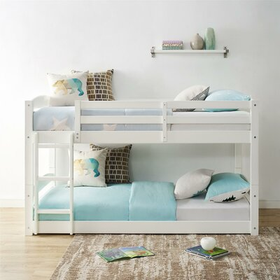 Daleyza Twin Bunk Bed Bed Frame Color: White