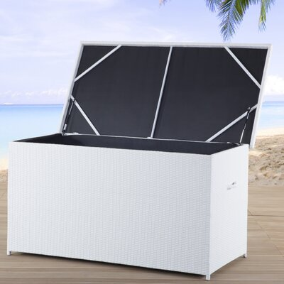 215 Gallon Wicker Deck Box Color: White