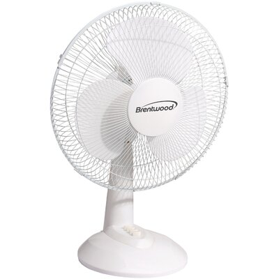"12"" Oscillating Table Fan Size: 6.5"" H x 6.5"" W x 17.5"" D"