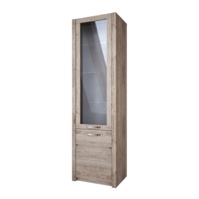 Fulford 2 Door Display Cabinet Color: Natural Oak Color