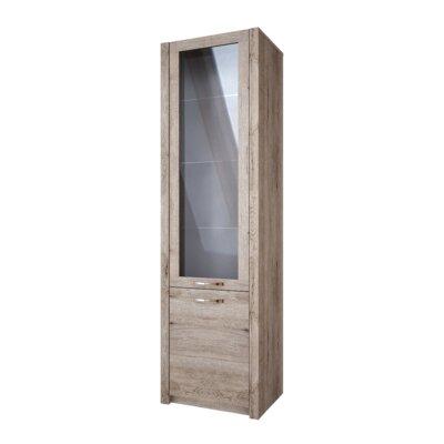 Fulford 2 Door Display Cabinet Color: Natural Oak Color