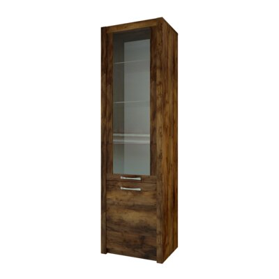 Fulford 2 Door Display Cabinet Color: Dark Oak Color