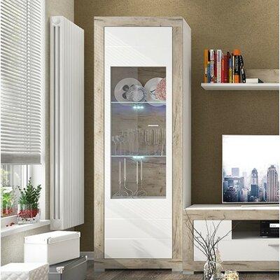 Garzon 1 Door Curio Cabinet