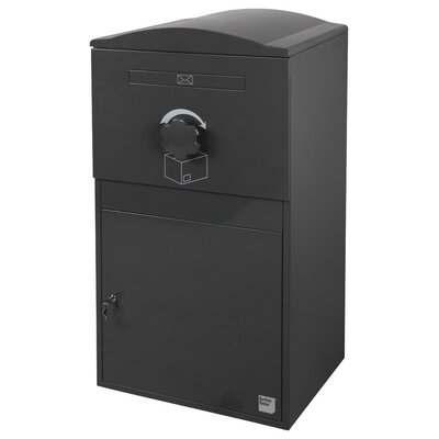 Compact Steel Parcel Locker Mailbox Color: Night