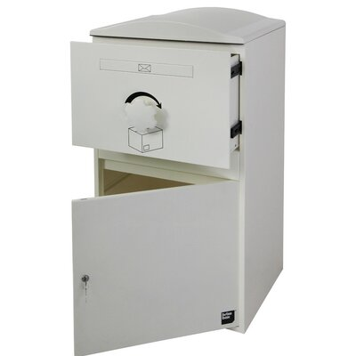 Compact Steel Parcel Locker Mailbox Color: Snow