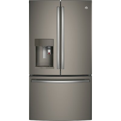 22.2 cu. ft. Energy Star Counter Depth French Door Refrigerator with Keurig K-Cup Brewing System Finish: Slate