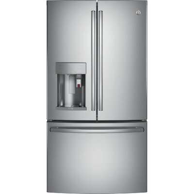 22.2 cu. ft. Energy Star Counter Depth French Door Refrigerator with Keurig K-Cup Brewing System Finish: Stainless Steel