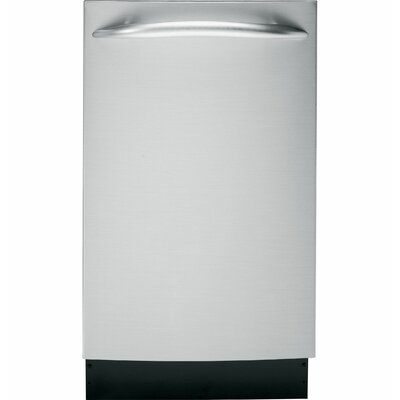 "18"" 60 dBA Built-In Dishwasher with Top Controls Finish: Stainless Steel"