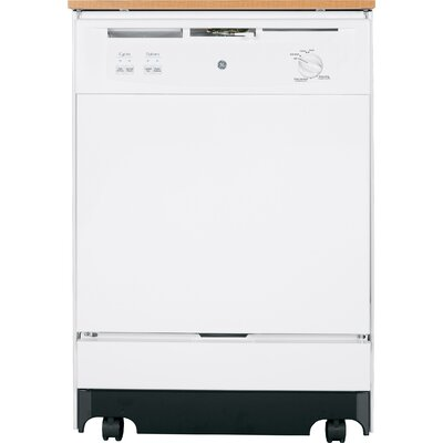 "24"" 64 dBA Portable Dishwasher with Front Controls Finish: White"
