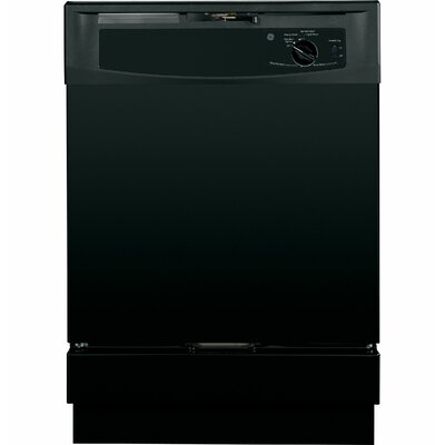 "24"" 64 dBA Built-In Dishwasher with Front Controls Finish: Black"
